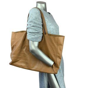 100% Leather Floppy Tote